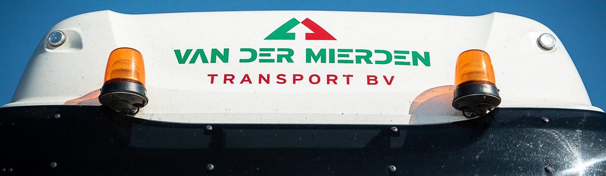 Logo Van der Mierden Transport op tankwagen